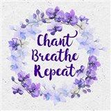 Bhakti-Chant Breathe Repeat Art Print