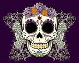 DOD-Flower Skull Art Print