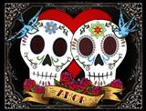 DOD-Love Skulls Art Print
