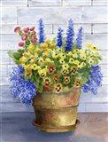 Mixed Flowers in Pot Art Print