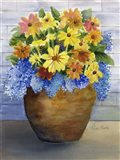 Yellow and Blue in Pot Art Print