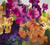 Petunias and Pansies Art Print
