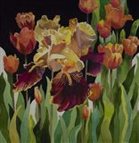 Iris and Tulips Art Print