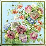Flowers, Bees & Birds Art Print