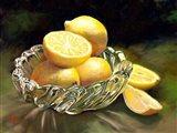 Lemon In Glass Art Print