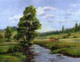 Meadow & Horses Art Print
