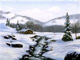 Winter Landscape 32 Art Print