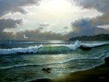 Beach Twilight Art Print