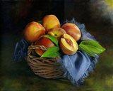 Peaches Basket Art Print