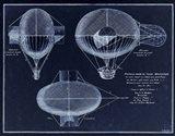 French Airship Balloon 1784 Art Print