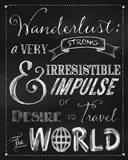 Wanderlust Chalkboard Travel Series Art Print