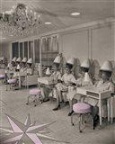 Beauty Day, Vintage Hair Salon Art Print