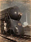 1939 Streamliner NYC Hudson Machine Age Art Print