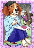 Beagle Artist Art Print