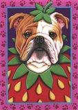 Bulldog Strawberry Art Print