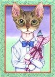 Fish Cat Art Print