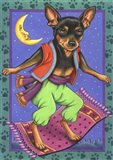 Minipin Flying Carpet Art Print