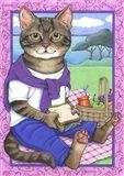 Picnic Cat Art Print