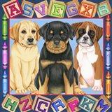 Back To School Pups Art Print