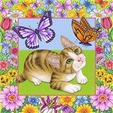 Butterfly Kitten Art Print
