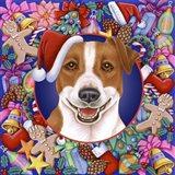 Christmas Jack Russel Art Print