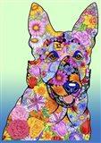 Flowers German Shepherd Art Print