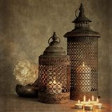 2 Lanterns with Flower Art Print
