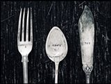 Antique Knife Fork and Spoon Art Print