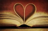 Book Pages in Heart Shape Art Print