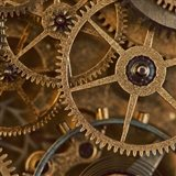 Copper Cogs Close up 1 Art Print