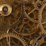 Copper Cogs Close up 2 Art Print