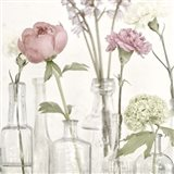 Flowers in Bottles Still Life Art Print