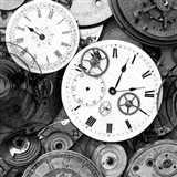Pieces of Old Watch BW Art Print