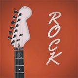 Guitar Head Illustration Red Rock Art Print
