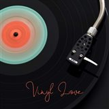 Spinning Record Vinyl Love Art Print