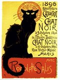 Chat Noir (with text) Art Print