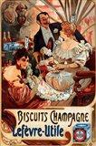Biscuits Champagne Lefevre-Utile Art Print