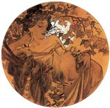 Autumn Medallion Art Print