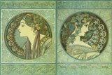 Green Medallions Art Print