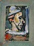 Profile Of A Clown Art Print
