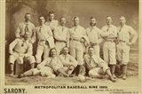 Metro Baseball Art Print