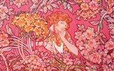 Woman Among Flowers Arch Vers Art Print