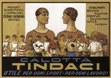 Calotta Tindaci Sports Cap Ad 1910 Art Print