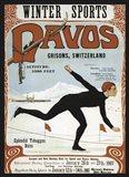 Davos Winter Sports 1907 Art Print
