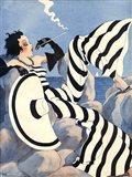 1933 French Art Deco Fashion Art Art Print