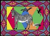 Z Zebra Art Print