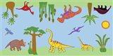 Dino Rug Art Print