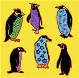 6 Penguins Art Print