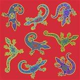 8 Lizards Art Print
