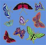 9 Butterflies Art Print